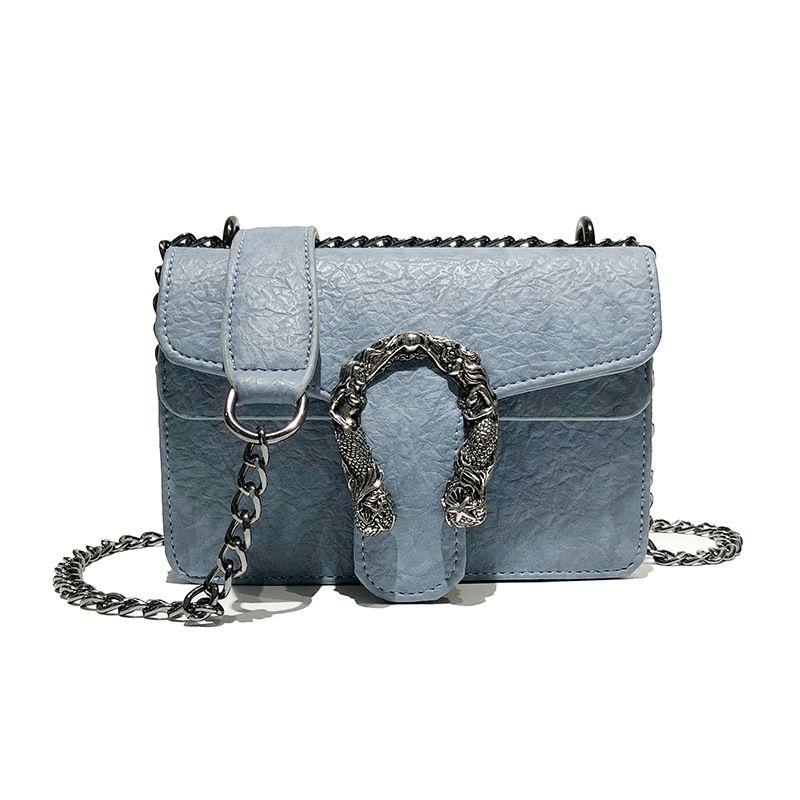 b6926eefa4a4 Snake Chain Small Satchel Bolso Mujer Bags for Women 2019 Bolso Mujer  Crossbody Bags Bolsa Feminina PU Leather Chain Mobile Pack