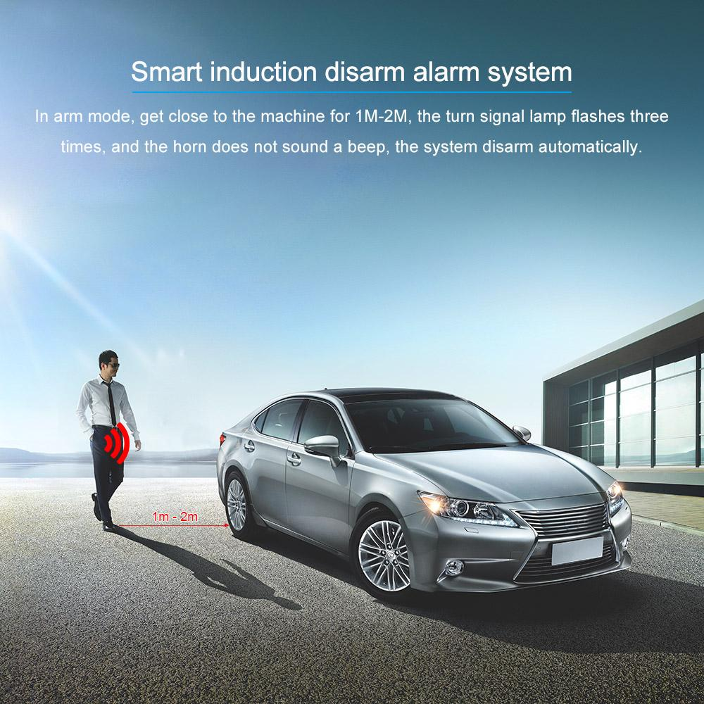 Freeshipping Auto Car Alarm Engine Start Stop Button Remote Start Open and Close Windows Version Smart Key PKE Passive Keyless Entry System