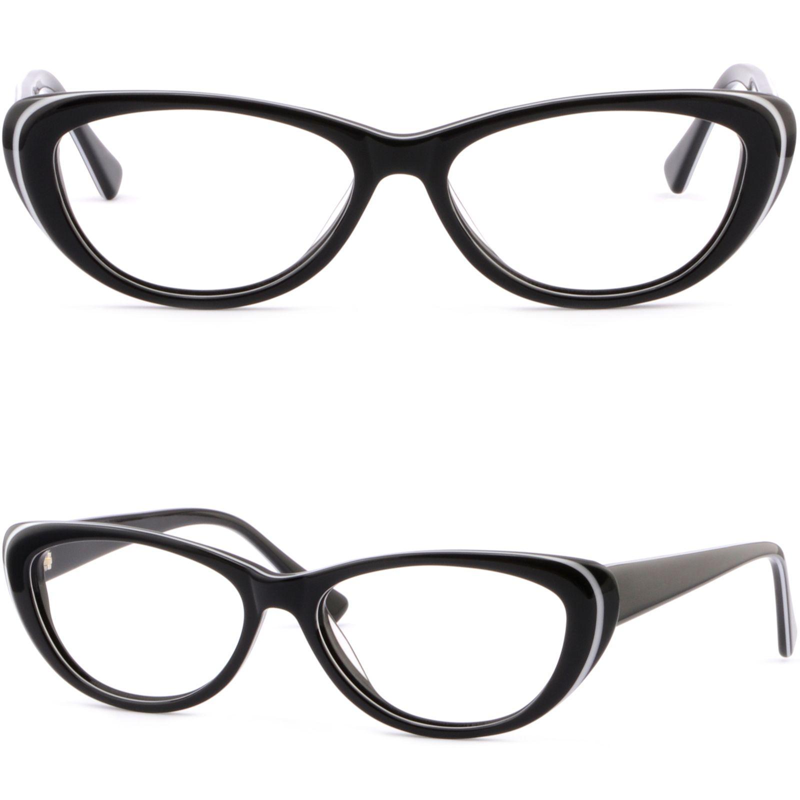 Cateye Plastic Frames Womens Prescription Glasses Eyeglasses Spring Hinges  Black