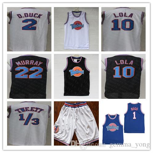 826fa3ab5d7 2019 Men Space Jam Jersey 1 Bugs 23 Michael 2 Daffy Duck 10 Lola Bunny TAZ  1 3 Tweety 22 Bill Murray Curry White Black Movie Tune Squad Jerseys From  ...