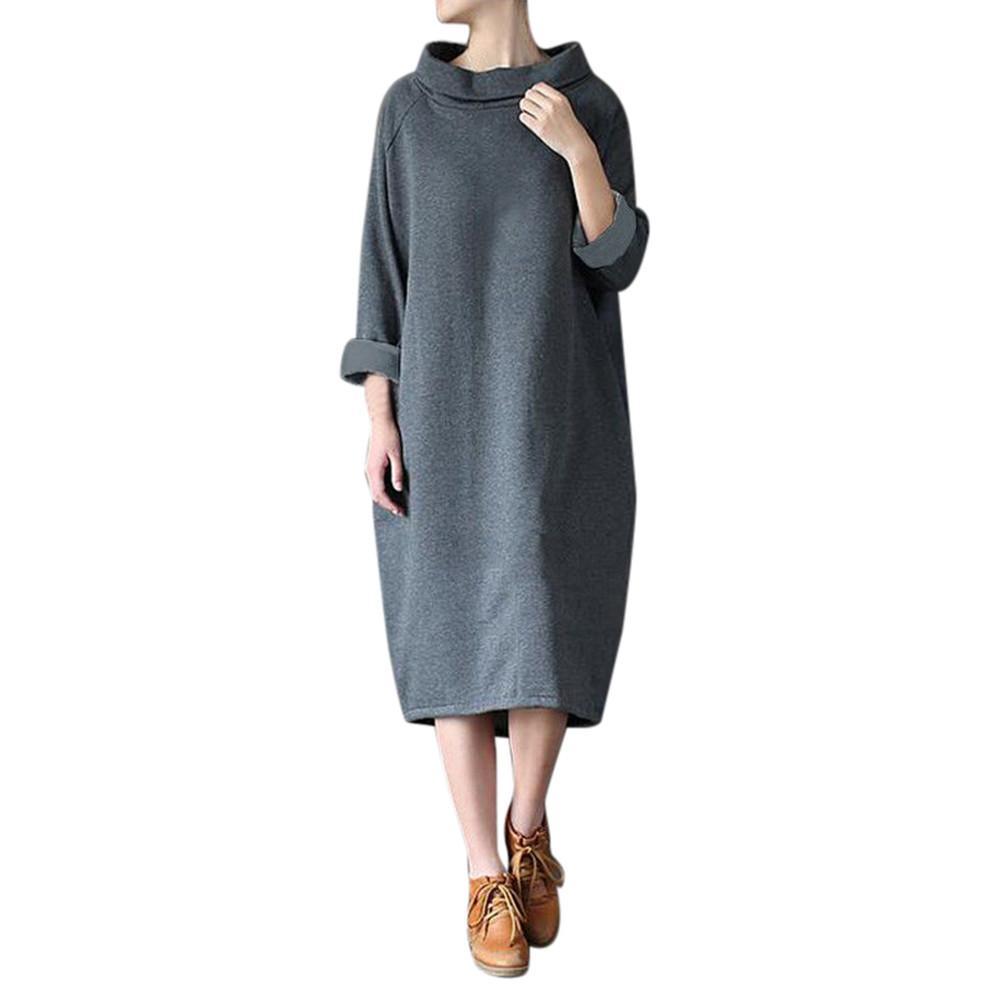 c2b692e0ace1 Großhandel Robe Frauen Winter Dress Casual Lose Rollkragen Langarm Party  Dress Kaftan Robe Longue Femme Vestido Longo Von Bibei06,  34.58 Auf  De.Dhgate.
