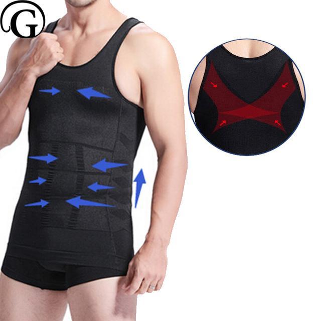 48647becd 2019 PRAYGER Men Gynecomastia Shaper Slimming Boobs Chest Control Underwear  Big Belly Compression Undershirts Waist Control Corset From Manteau