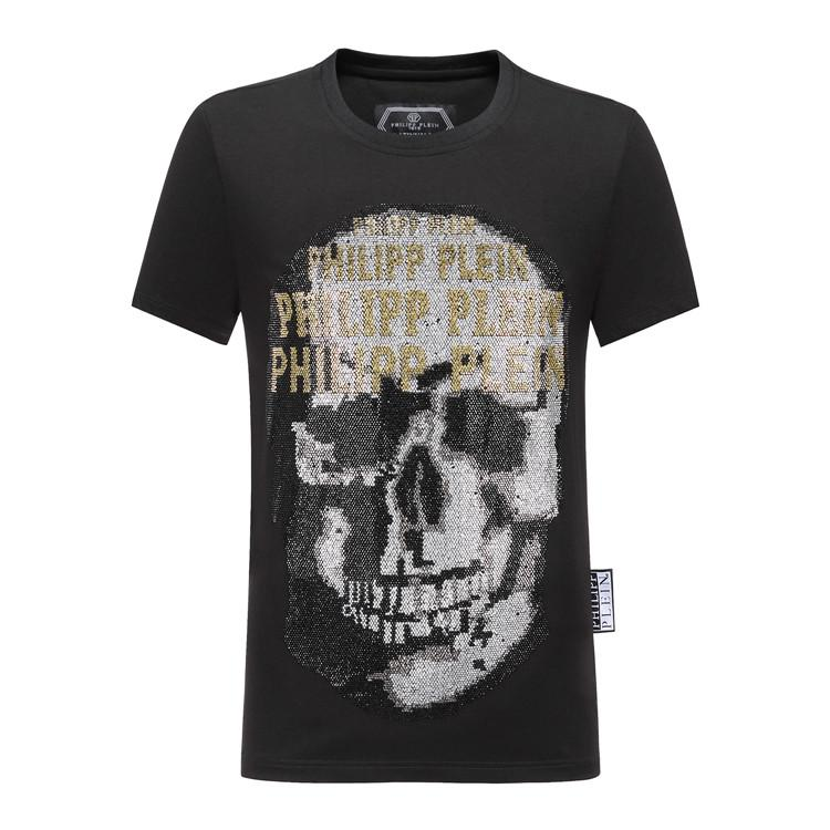 42709f284f9 Brand men's wear designer T-shirt, men's pp casual T-shirt, high quality  pressed fashion shirt polo, new skull and diamond sticker