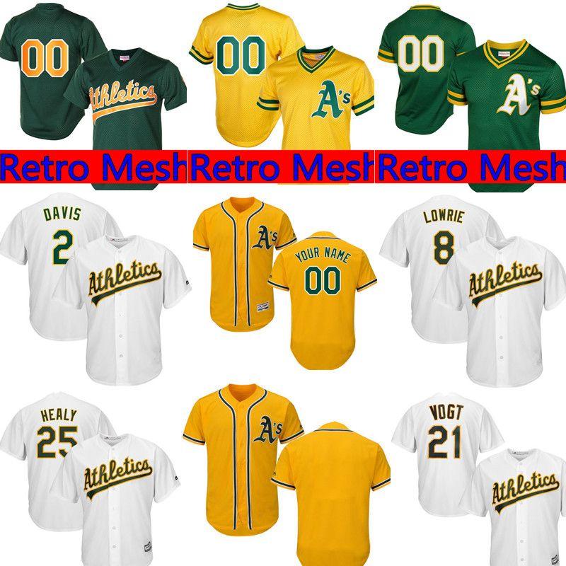 5a0d72c4f Oakland Athletics Custom Jersey Mens 28 Matt Olson 26 Matt Chapman 2 ...