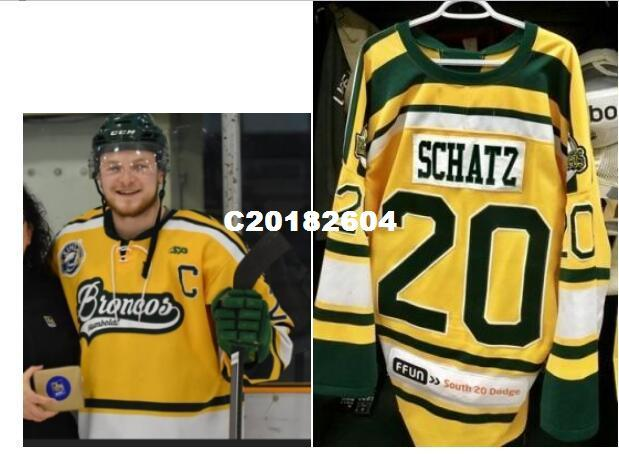 2019 Real Men Real Full Embroidery  20 Broncos Humboldt  Humboldtstrong  SCHATZ Vintage Hockey Jersey Or Custom Any Name Or Number Jersey From  C20182604 3f146a796a8