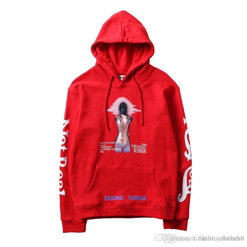 8cdb30d81 Compre Nova Marca 19SS Moletom Com Capuz Mens Designer OFF Hip Hop  Tendência Hoodies BRANCO Rua Moda De Luxo Camisola Com Capuz Homens Mulheres  Casal ...