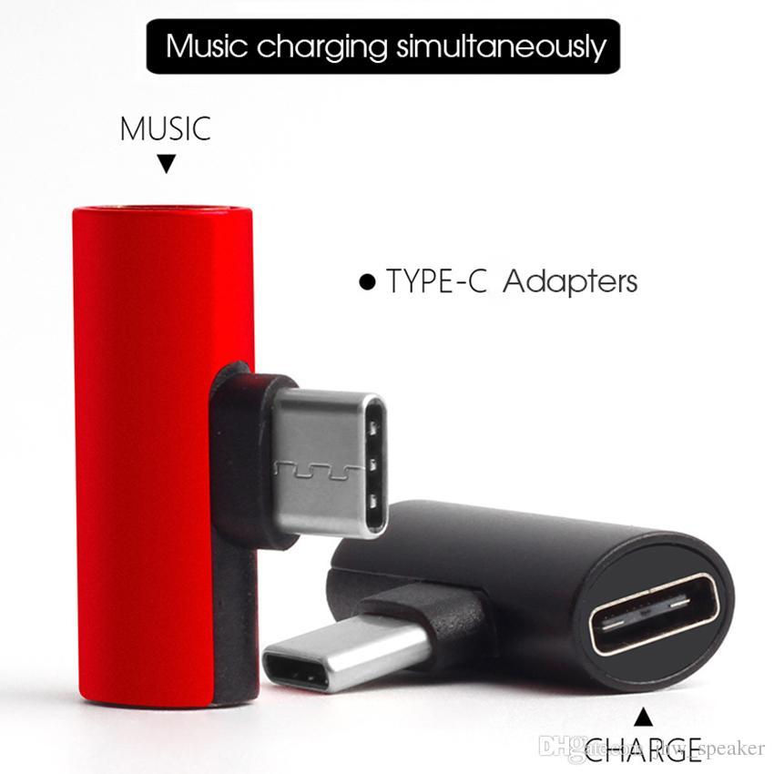 Dual Type C USB-C Earphone Headphone Audio Charging Charger Adapter  Splitter Convertor For Xiaomi 6 6X 8 Note3 Mix Samsung Huawei Mate