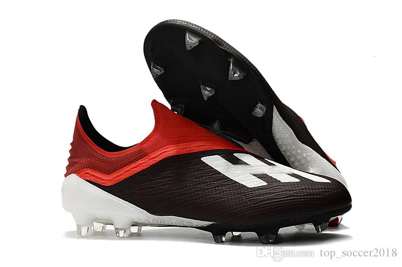 2019 White Black Colors Messi Original Football Boots Laceless X 18+ FG Men  Soccer Shoes Pogba Plating Soles Outdoor Soccer Cleats From Top soccer2018 21fa7d2ac0b