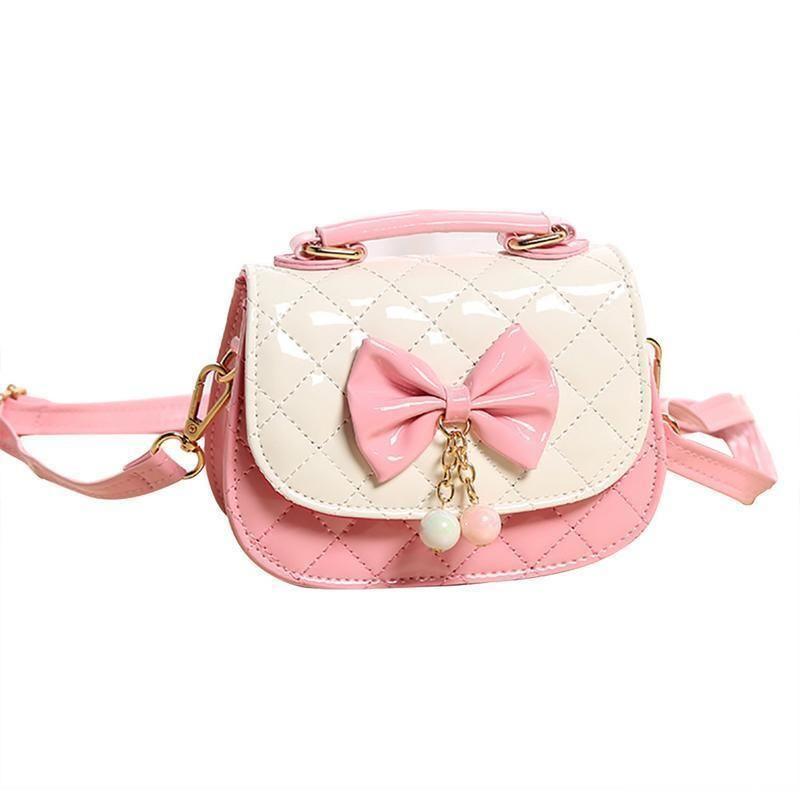5d408738aaa8 Small Square Fashion Elegant Shoulder Bag Tote Handbag Bow Princess Mini  Crossbody Messenger Hand Bags Handbags For Girls Child Satchels Leather  Purses From ...