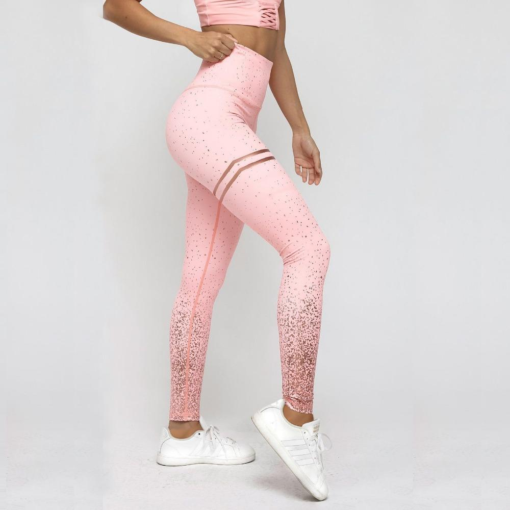 0e27492745dcf2 2019 New Hotsale Women Gold Print Leggings No Transparent Exercise Fitness  Leggings Patchwork Push Up Female Pants From Brry, $22.75 | DHgate.Com