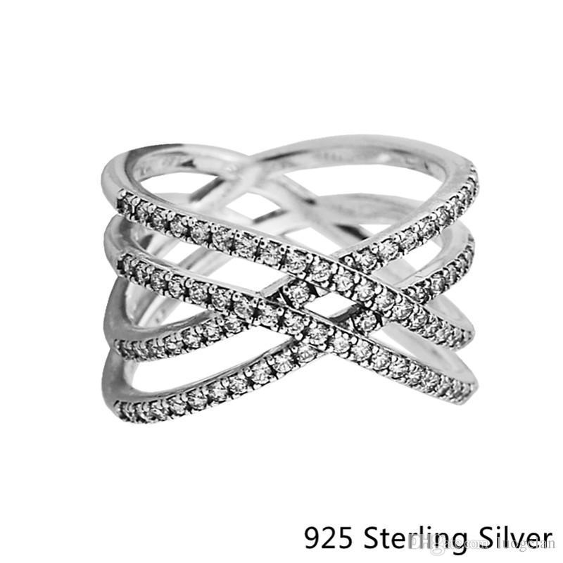 Rings Compatible with Pandora Jewelry Cosmic Lines Ring Silver Ring For Women original 100% 925 Sterling Silver jewelry Ring