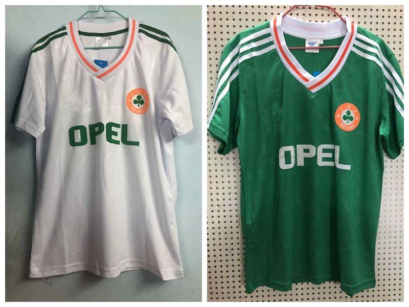 ee4fa3105068 2019 Retro Ireland Soccer Jerseys Home Away Ireland Retro Home Green  Football Jersey Shirts S 2XL From Xx416764580