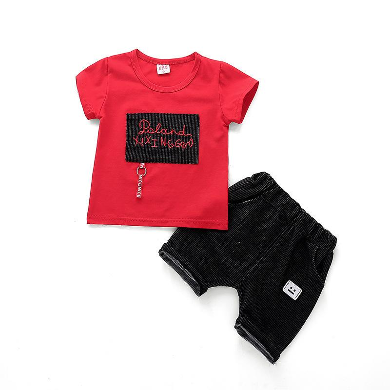 e7580eedf6e 2019 Summer Baby Boy Girl Clothes Infant Letter Patchwork T Shirt Shorts /Sets  Toddler Cotton Garment Children Fashion Sport Suit From Shanghaiyuhong005,  ...