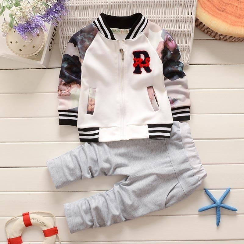 quality 2019 kids boys clothing sets new chilidren clothes tracksuit active jacket autumn sport coat+solid pants new outfits