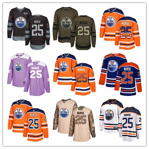 f57dcbdfc Edmonton Oilers Jerseys  25 Darnell Nurse Jersey Hockey Men Women Youth  Royal Blue Orange White Home Breakaway Stiched Authentic Jerseys UK 2019  From Wk1403 ...
