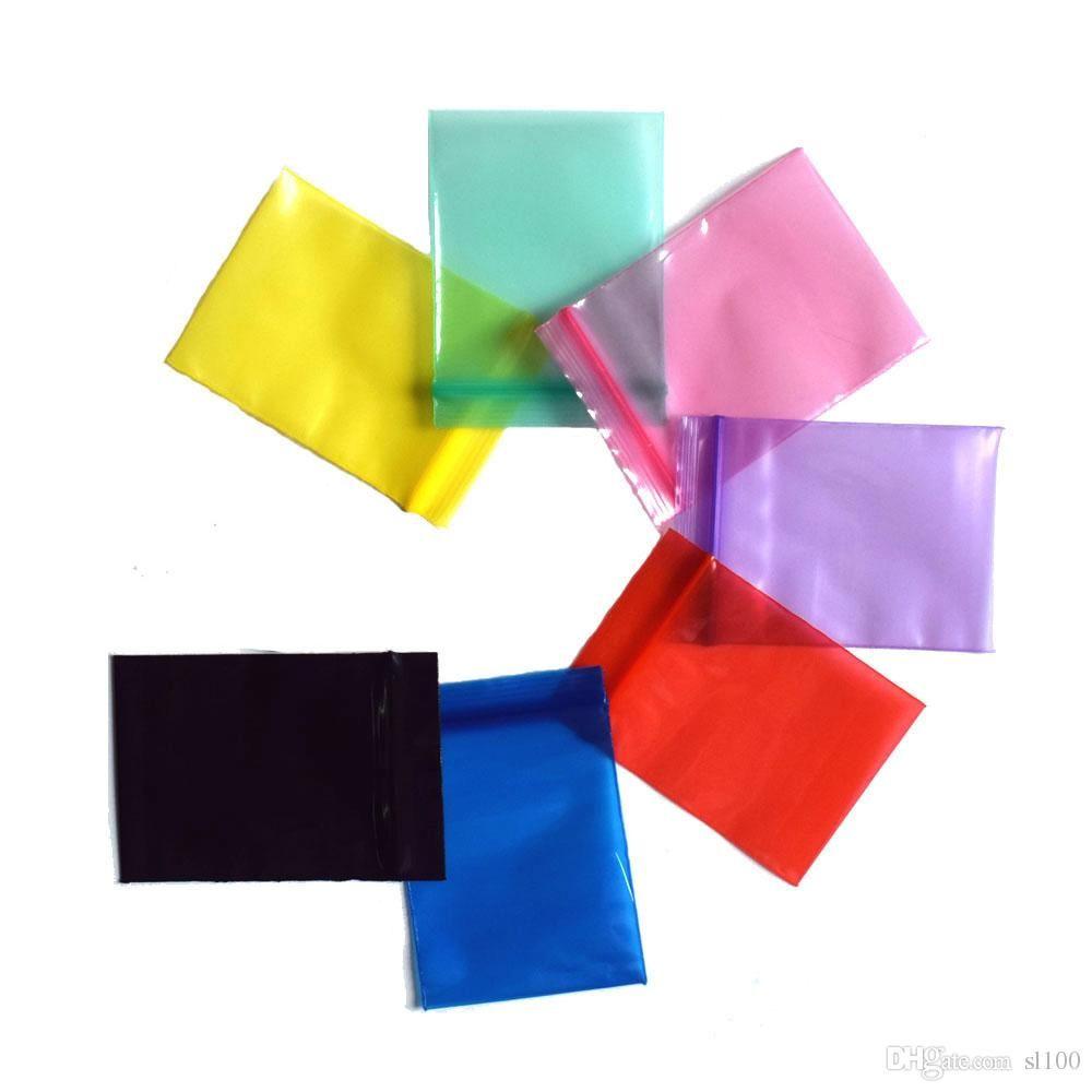96c3eb56d27 2019 4 6CM Thickness 0.12MM Colorful Mini Zip Lock Bags Plastic Packaging Bags  Small Plastic Zipper Bag Ziplock Bag Ziploc From Chaplin