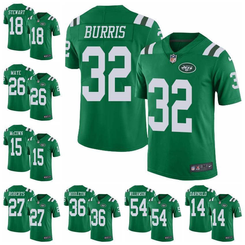 145f9ea9760 2018 New York Jets Green Rush Vapor Untouchable 14 Sam Darnold Jerseys 33  Jamal Adams 12 Joe Namath Limited Football Jersey From Nfljersey168, ...