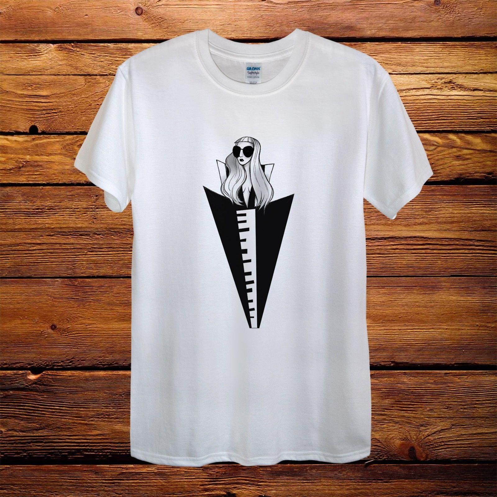 d5c592f8dcc4 Lady Gaga Top Design T-Shirt Men Unisex Women Fitted World Tour Gift ...