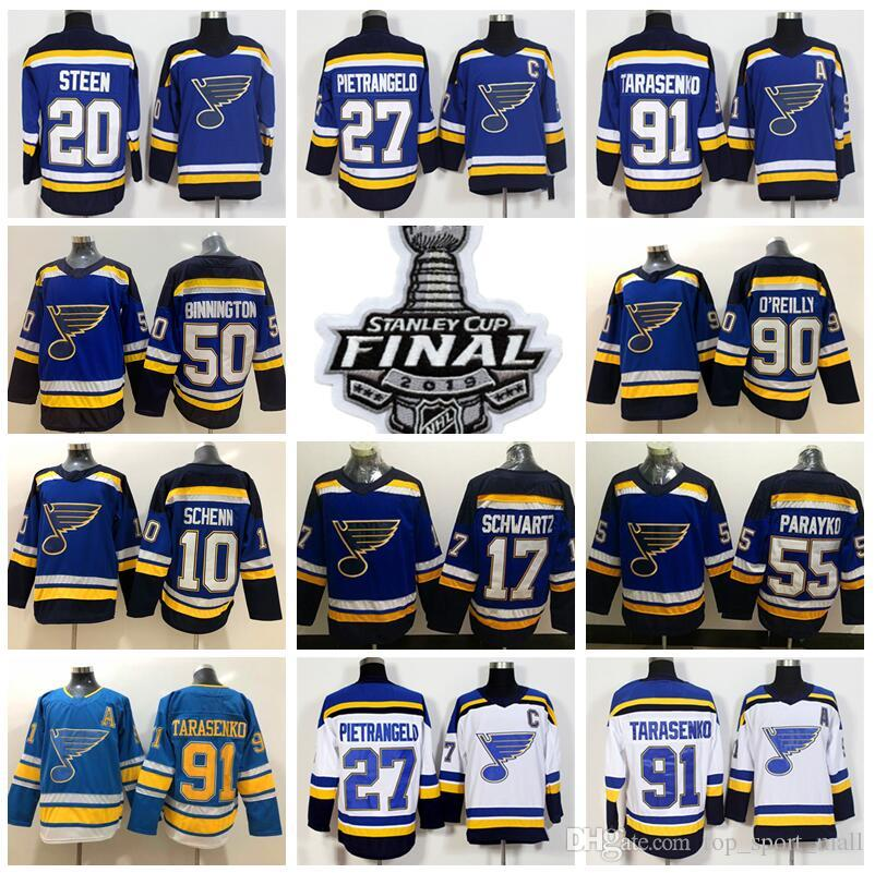 watch 3dd33 df860 2019 Stanley Cup Finals St Louis Blues St Louis Blues Ice Hockey 55 Colton  Parayko Jerseys 10 Brayden Schenn 20 Alexander Steen Jake Allen