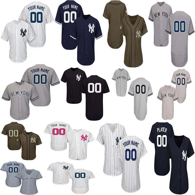 promo code 11be2 38b94 Customized Aaron Judge Jersey Giancarlo Stanton Gleyber Torres Baseball  Jerseys Mens Women Youth New York Jersey Any Name Number