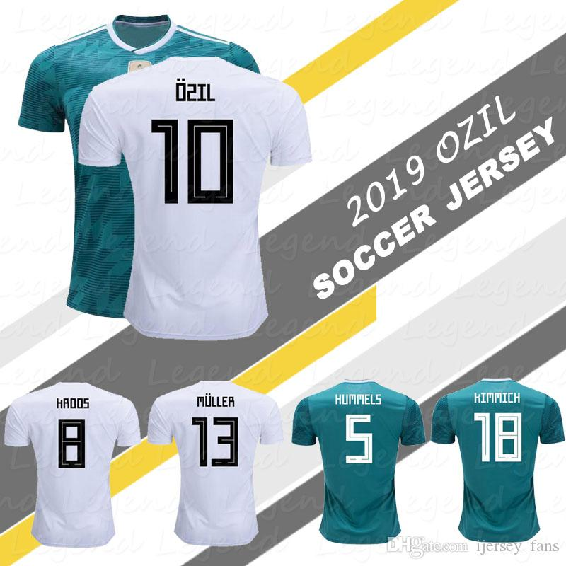 new style 16a41 df565 GERMANY SOCCER JERSEY 2018 WORLD CUP #10 OZIL #5 HUMMELS #8 KROOS #11  WERNER jersey #13 MULLER #7 DRAXLER football uniforms shirt