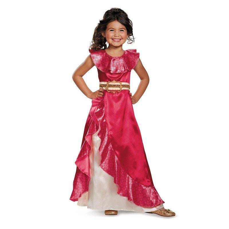 13b5a47d8bc2 Vogueon Elena de Avalor Aventura Vestidos Niñas Sin mangas Clásico Cosplay  Disfraz Niños Ruffles vestido de bola trajes J190505