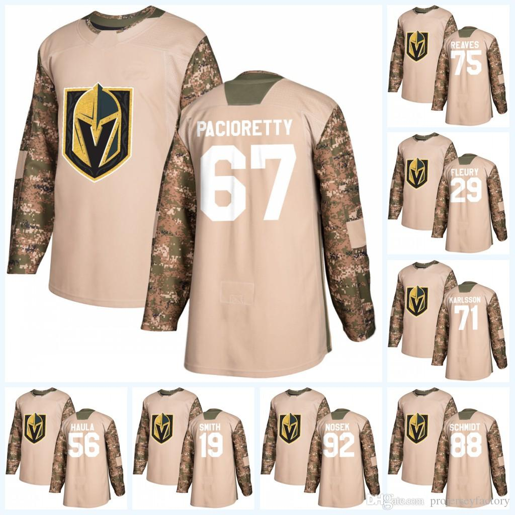 best service c5d4e 9cfda Youth 67 Max Pacioretty Vegas Golden Knights Camo Veterans Day William  Karlsson Reilly Smith Fleury David Perron Ryan Reaves Jersey