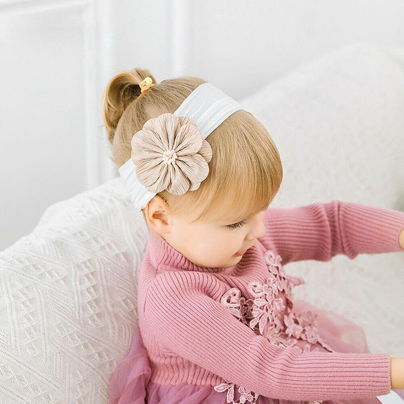 3adet Yenidoğan Bebek Kız Çiçek Kafa Bebek Yürüyor Saç Bandı Şapkalar Aksesuarlar Güzel Sevimli Hediyeler Yeni Toptan ayarlar