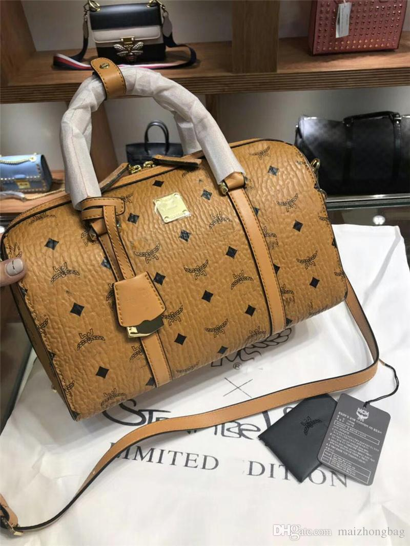 3e2d6bb97 2018MCM New arrival mulheres designer de bolsas de luxo famosa marca  travesseiro saco messenger crossbody sacos de ombro sacos de couro de alta  qualidade