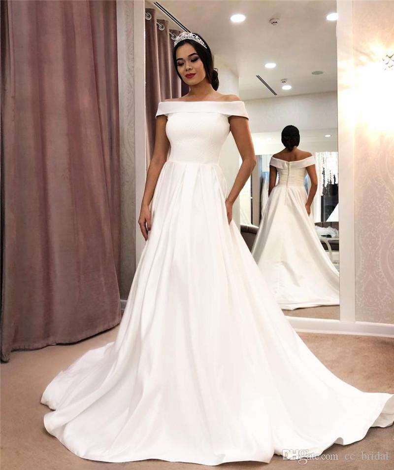 Discount New Design White Ivory Wedding Dresses 2019 Long Sexy