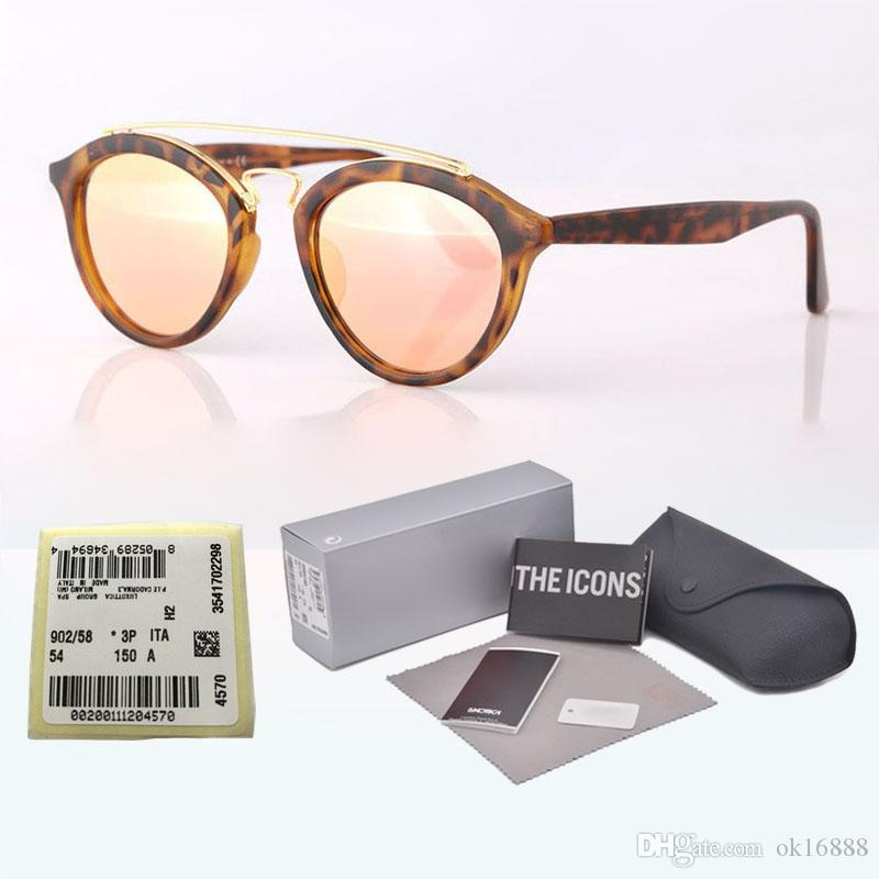 Round Brand Retro Shades Sun And Gatsby Design Vintage Sunglasses Label Glass Original With Box Eyewear Frame Lens Glasses Retail Women Men fygYmb76Iv