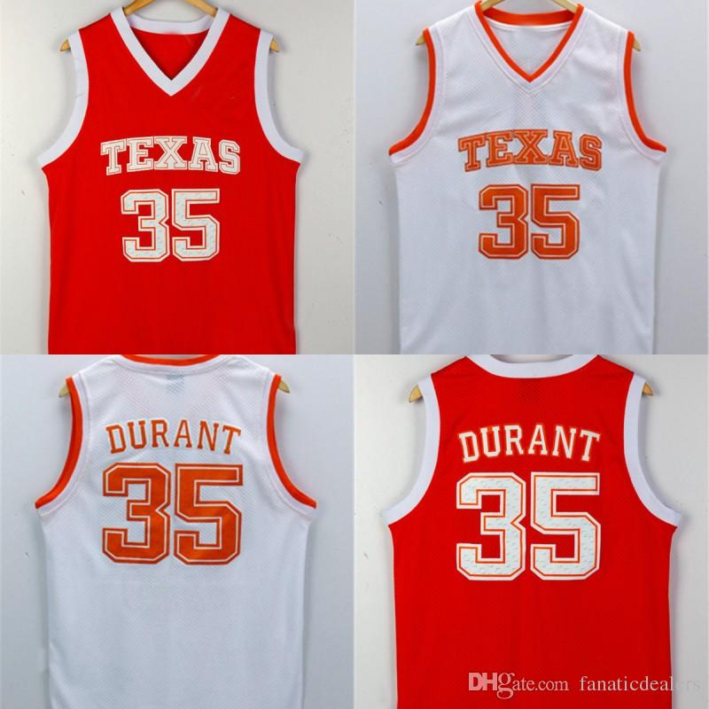 1dec2b979dd5 2019 Texas Longhorns Jersey  35 Kevin Durant Texas College Basketball  Jersey Stitched Men Basketball Shirts From Fanaticdealers
