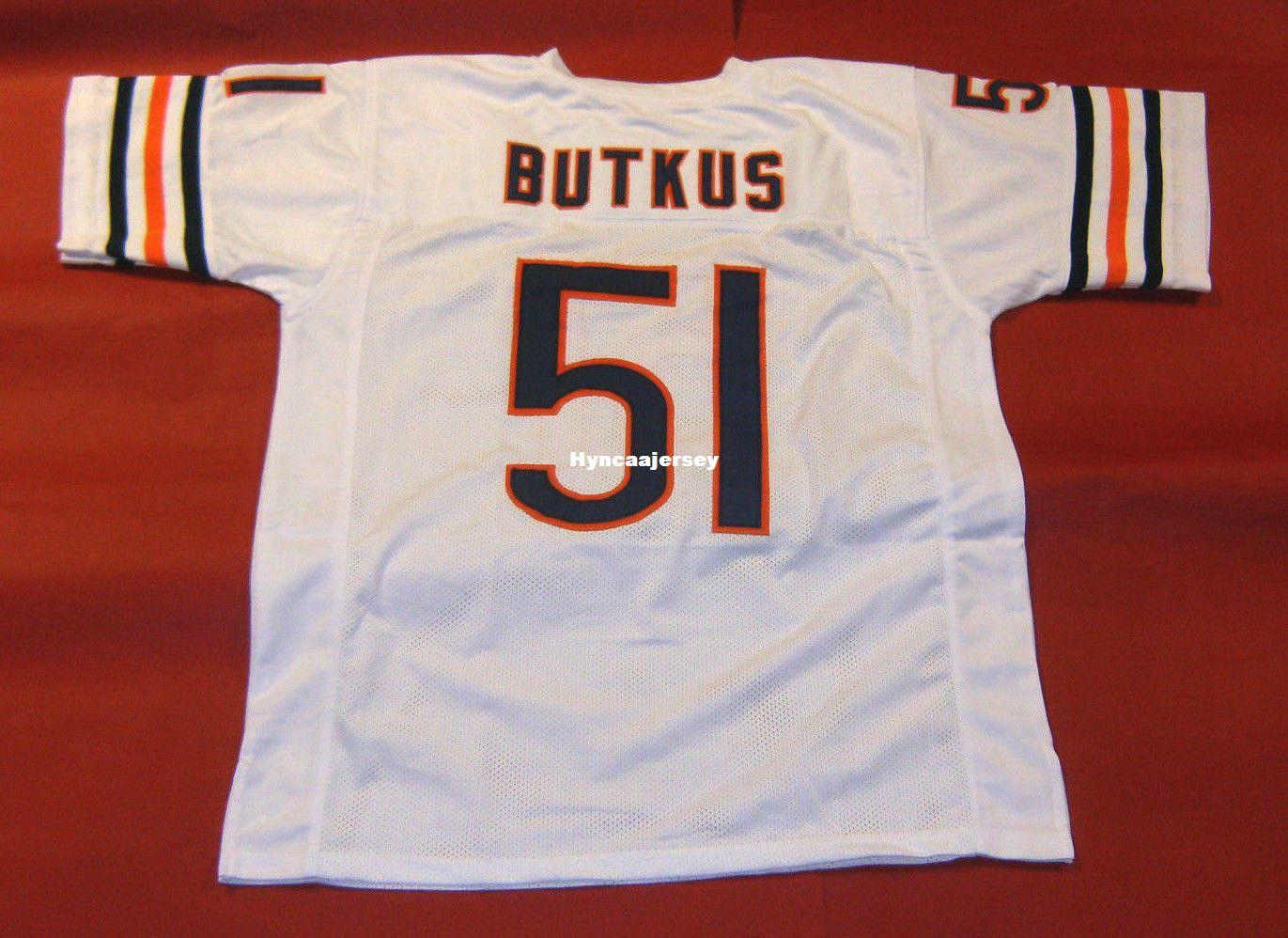 264466e54 2019 Cheap Retro  51 DICK BUTKUS CUSTOM MITCHELL   NESS Jersey White Mens  Stitching High End Size S 5XL Football Jerseys College NCAA From  Hyncaajersey