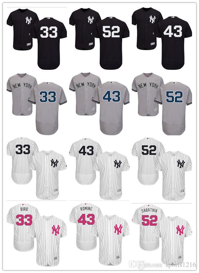 reputable site 7c409 3b43d custom Men's women youth New York Yankees Jersey #33 Greg Bird 43 Austin  Romine 52 C.C. Sabathia Baseball Jerseys