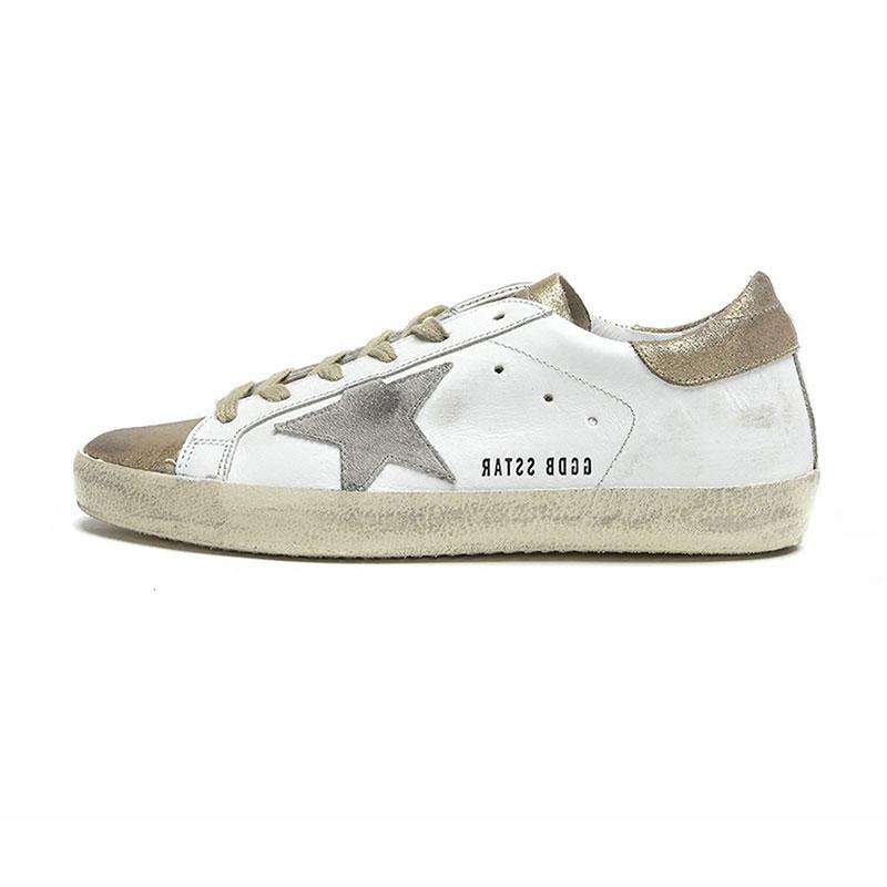 e3cef45694 Casual Shoes suppliers Golden Goose Ggdb old style sneakers Genuine Leather  Villous Dermis Mens Women Luxury Superstar trainers size 4.5-12
