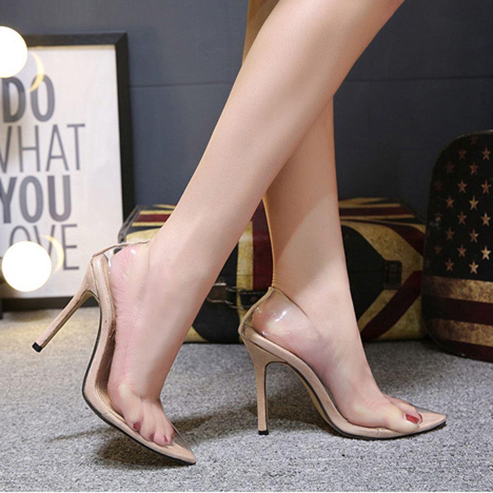 97370ef258b Compre Vestido Moda Mujer Otoño Zapatos Fiesta Boda Sexy Sandalias Altas  Puntiagudas Zapatillas Individuales A  33.56 Del Deals22