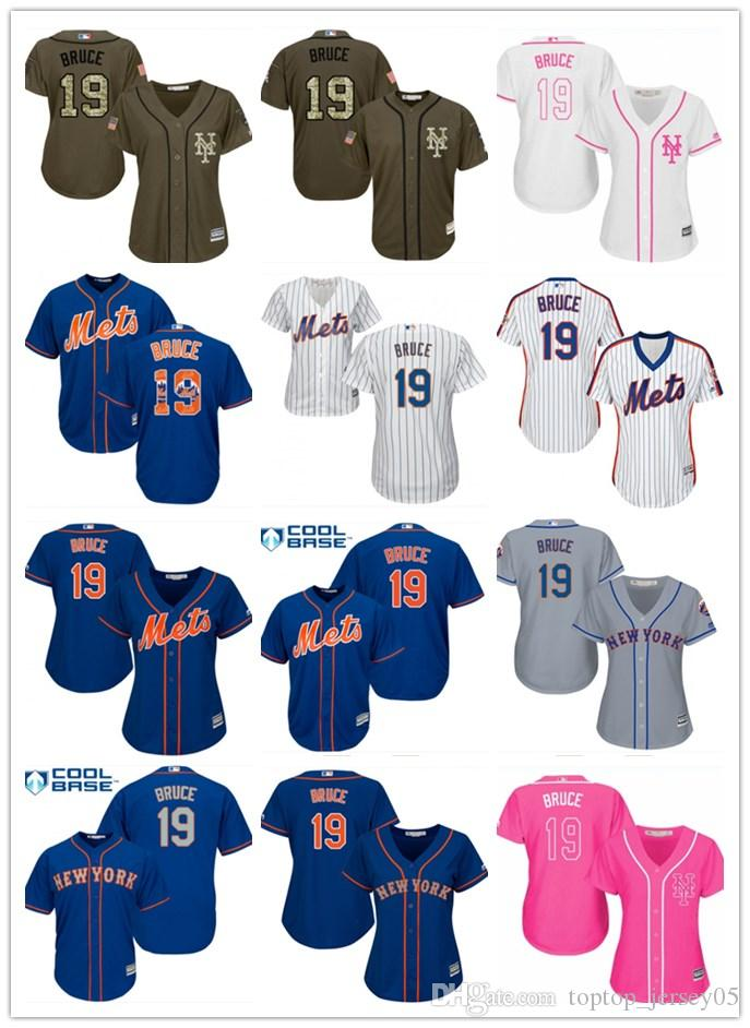 quality design cb630 80fb9 2018 top New York Mets Jerseys #19 Jay Bruce Jerseys men#WOMEN#YOUTH#Men s  Baseball Jersey Majestic Stitched Professional sportswear