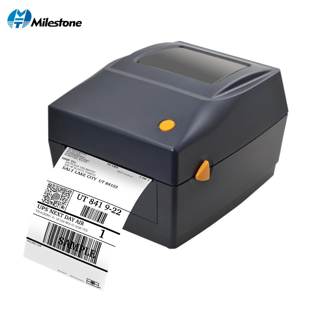 Milestone qr code sticker printer barcode printer thermal adhesive label clothing label for business printer sale printer scanner from jessiety