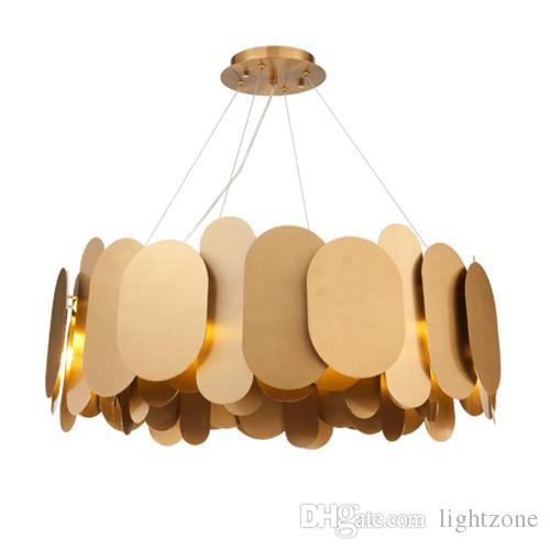 Acheter Nouveau Design Postmoderne Créatif En Acier Inoxydable Lampes  Nordique Art Suspensions Luminaires Villa Chambre Restaurant Luxe Salon  Éclairages De ...
