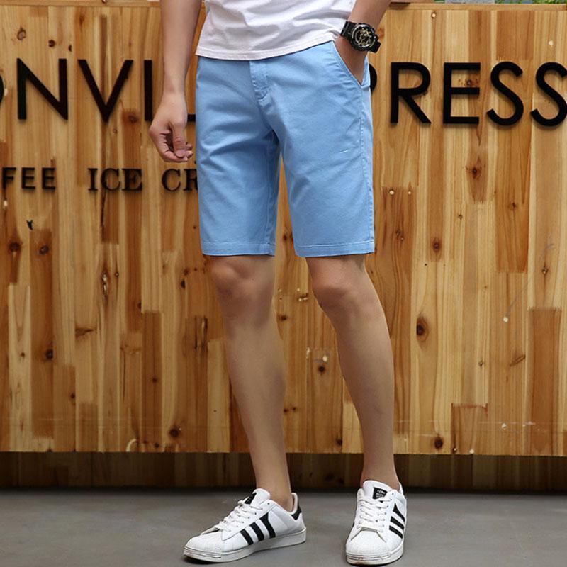 Korte Broek Heren We.2019 Drop Shipping Summer Solid New Shorts Men Casual Slim Fit
