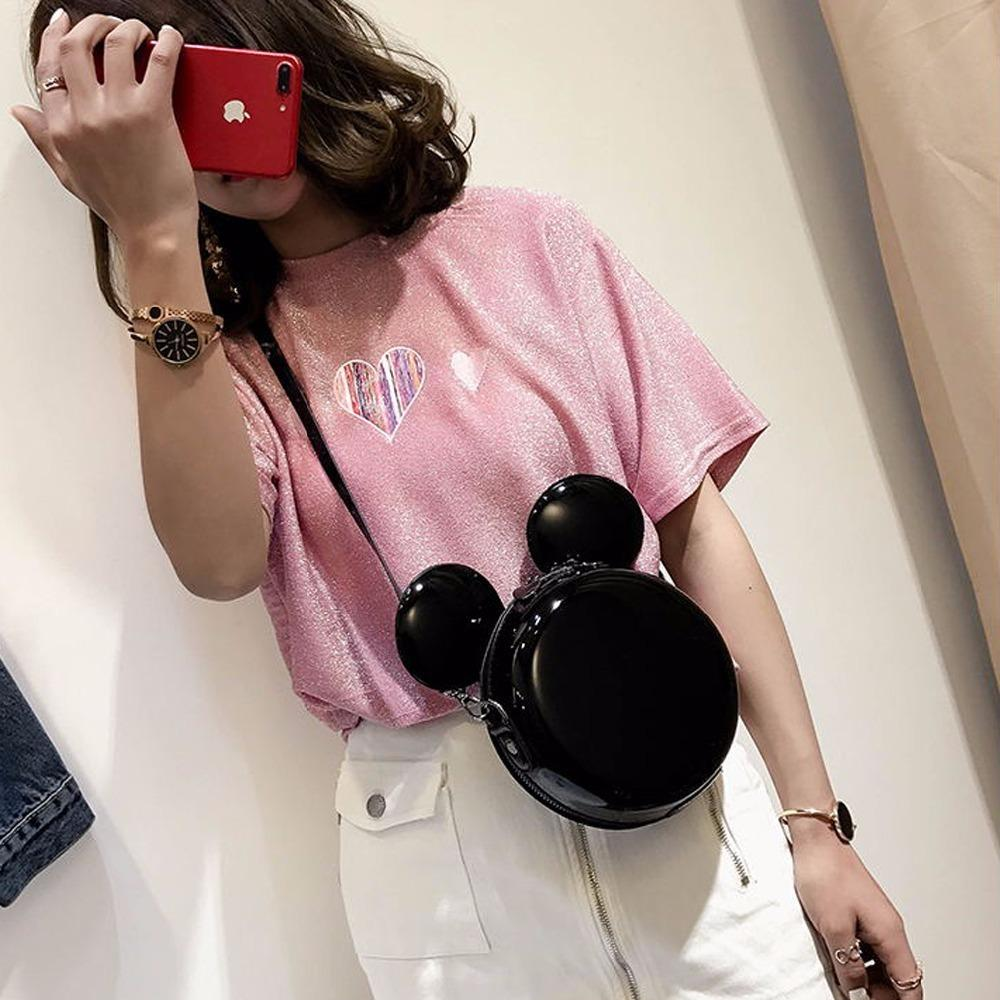81129ae33ea2d 2019 Mini Fashion Women Mickey Bag Designer Handbags Cartoon Mouse Large  Ears Shoulder Bags Portable Messenger Bag Gift 188 Handbag Wholesale Hobo  Purses ...