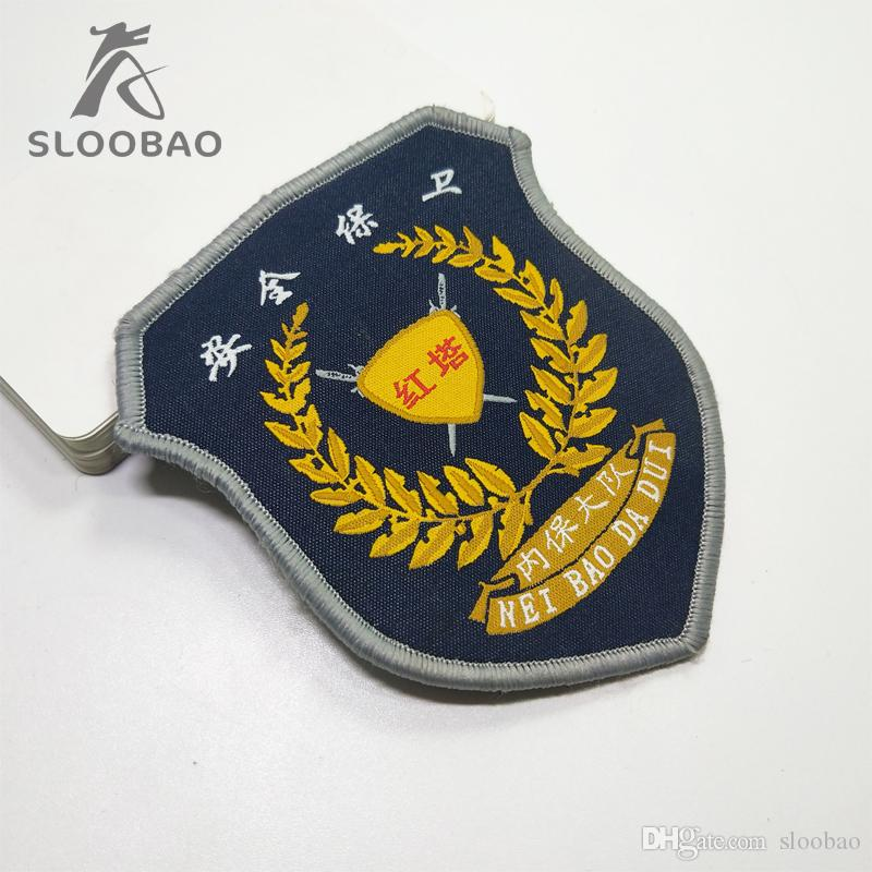 Customized embroidery for clothes custom embroidered patch for backpack  iron on patches for clothing with glue