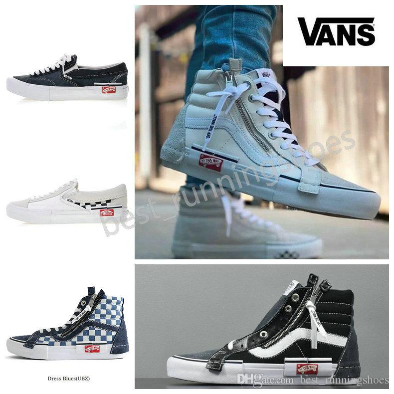 506f9c392f8e83 2019 VANS Old Skool Slip On Cap LX Men Women Skateboard Shoes Sk8 Hi Sports  Zipper Skate Womens Trainers Canvas Designer Sneakers 36 44 From ...