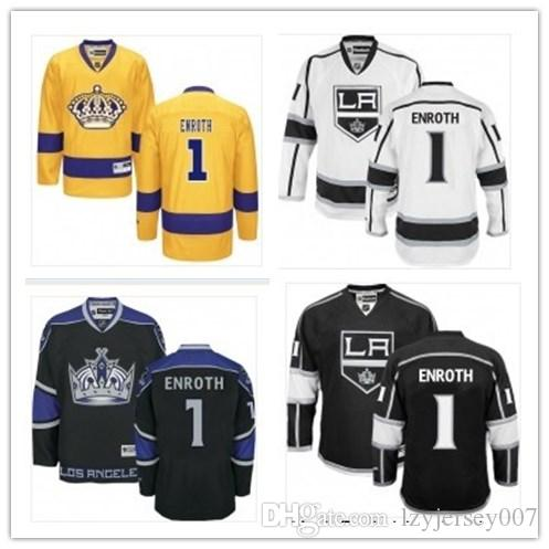 custom 2019 Anaheim collego hockey Los Angeles Kings 1 Jhonas Enroth best custom any name any number jersey