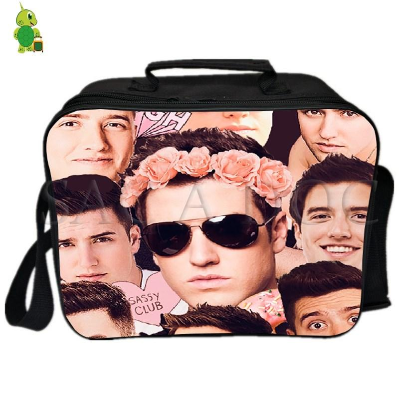 Logan Henderson Collages Cooler Bag Thermal Insulation Lunch Bag Picnic Box Women Men Fashion Fresh Keeping Ice Cooler