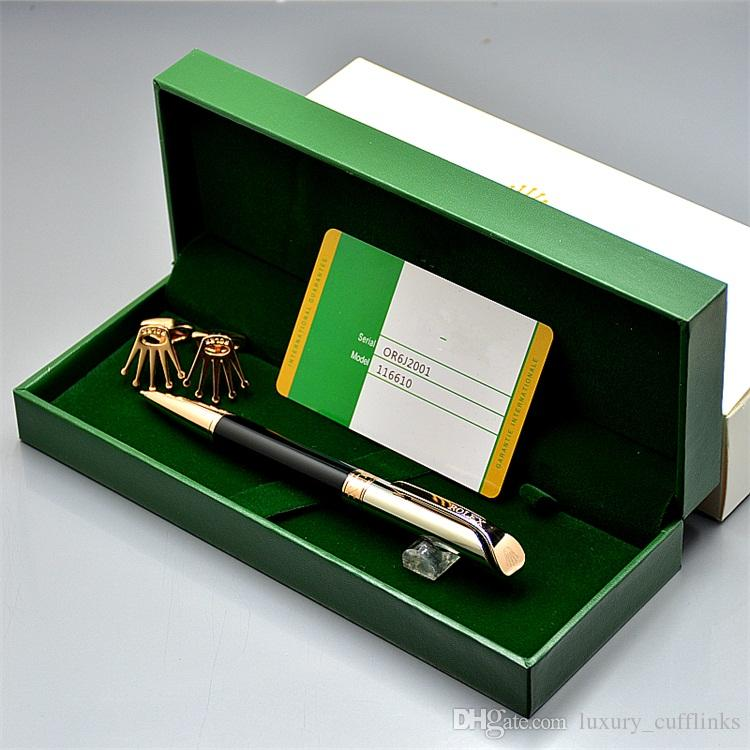 promotion price classic Metal ballpoint pen + top grade Gift pen box + luxury Men shirt Cufflinks For festival Gift