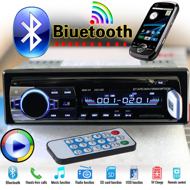 57eab5b1eb8 Hot 12v Bluetooth Car Stereo Fm Radio Mp3 Audio Player 5v Charger Usb Sd Aux  Auto Electronics Subwoofer In Dash 1 Din Autoradio Car Audio Shop Car Audio  ...