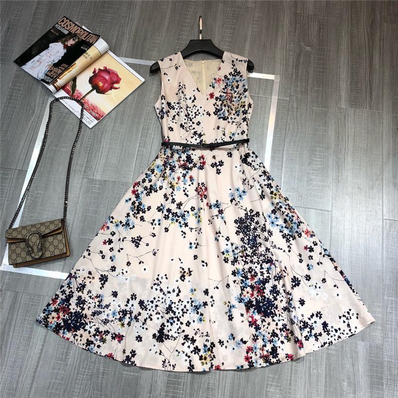 82736f74f6411 Truevoker Designer European Summer Dress Women s High Street Printed Casual  100% Cotton Knee Length Robe Femme Ete