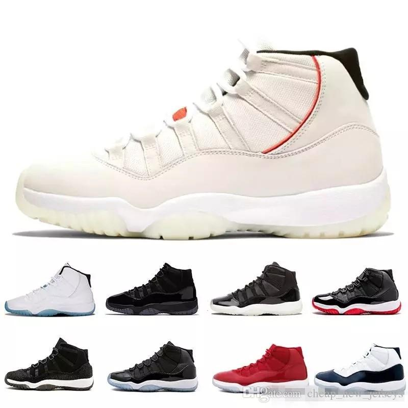 2018 Prom Night 11 XI 11s Black Out PRM Heiress Black Stingray Gym Red  Chicago Midnight Navy Space Jams Men Basketball Shoes Sports Girls  Basketball Shoes ... 727b9224f