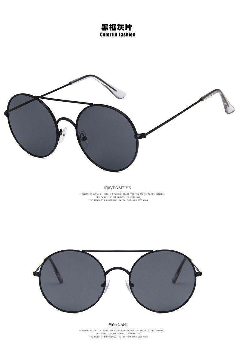 f9465bdc91 2018 Korean Fashion Version Large Frame Sunglasses Retro Metal ...